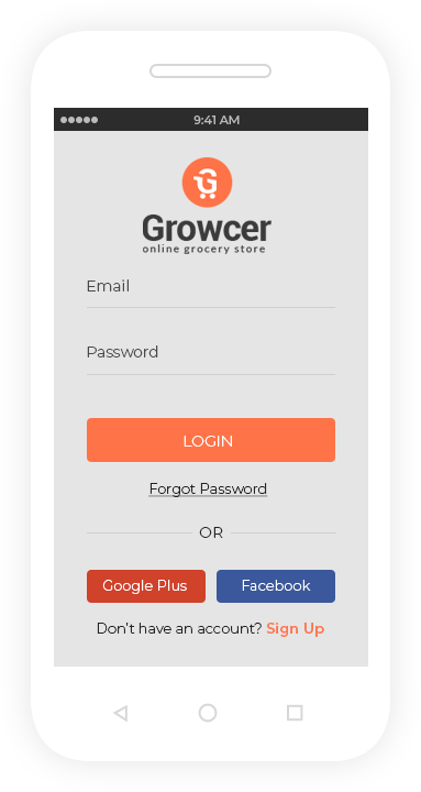 growcer android app