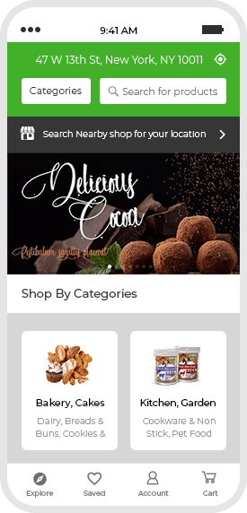 multi-vendor grocery buyer app